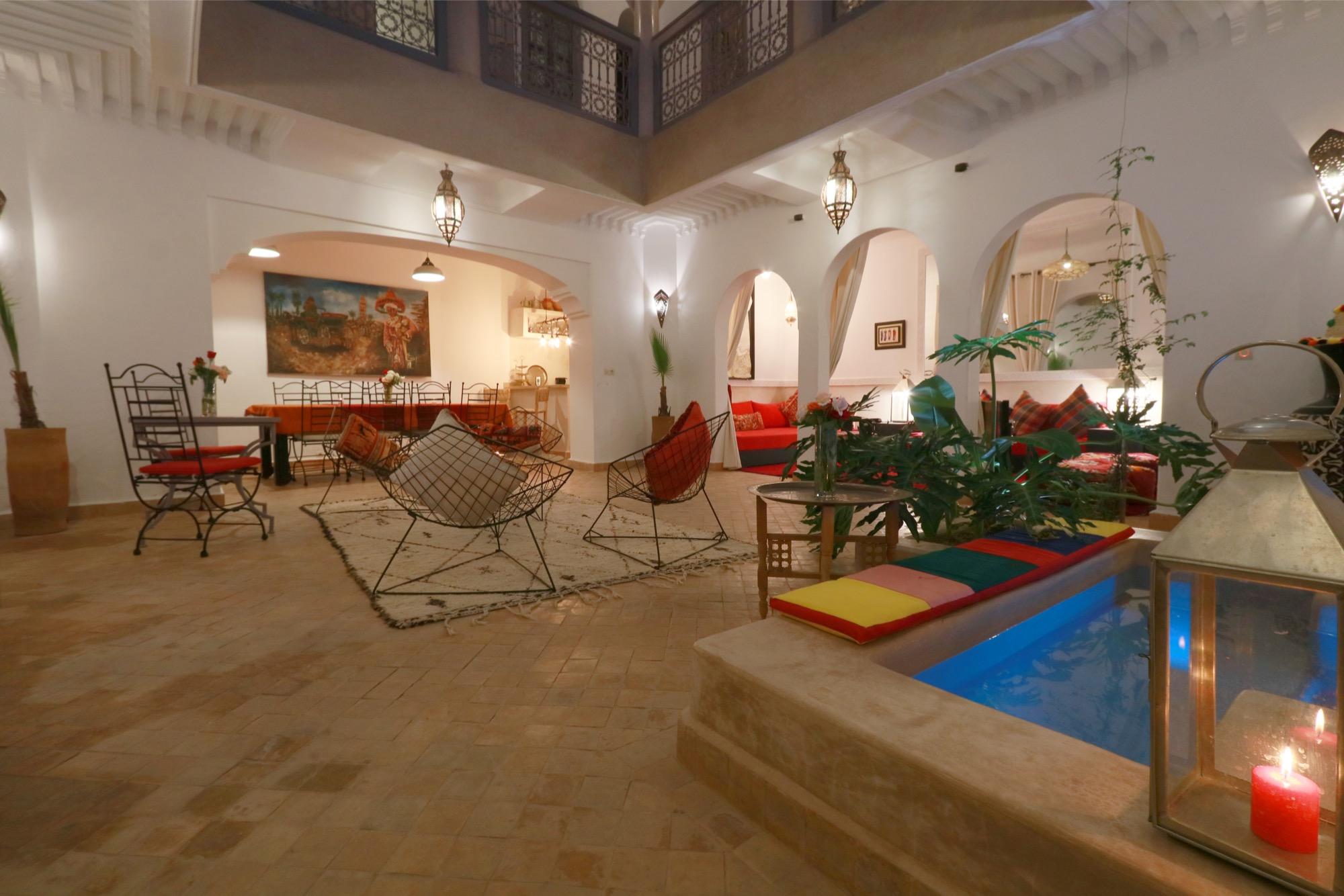 Riad Couleur Média - Riad avec patio et bassin chauffé