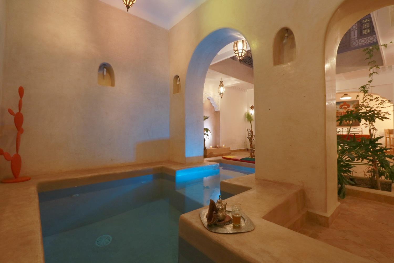 riad piscine chaufféee marrakech